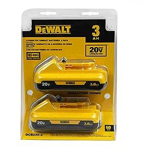DEWALT DCB230-220V MAXLithium Ion Battery Pack 3.0Ah, 2 pack