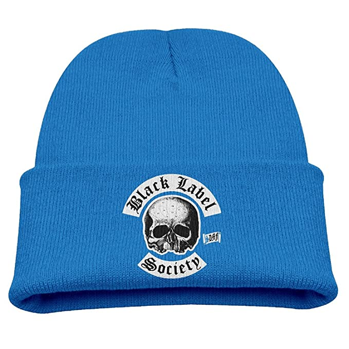 254a653d2047e Black Label Society Heavy Metal Band Child Hats Skull Beanies Hat Small Cap  RoyalBlue