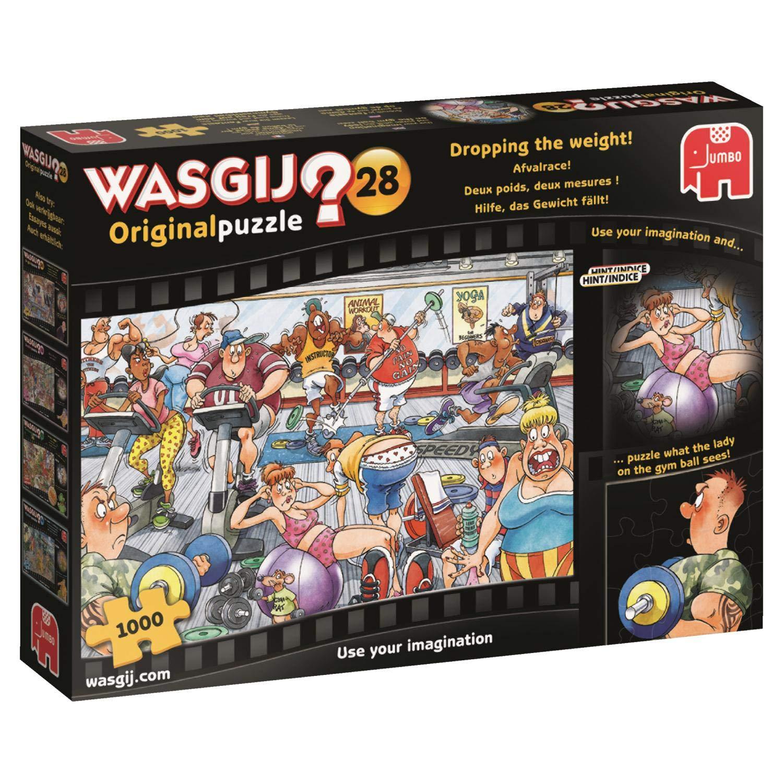 Jumbo 19156 Wasgij Original 28-Dropping The Weight 1000 Piece Jigsaw Puzzle