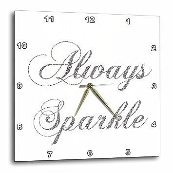 Amazon.com: 3dRose dpp_186760_3 Silver Image of Glitter Always ...