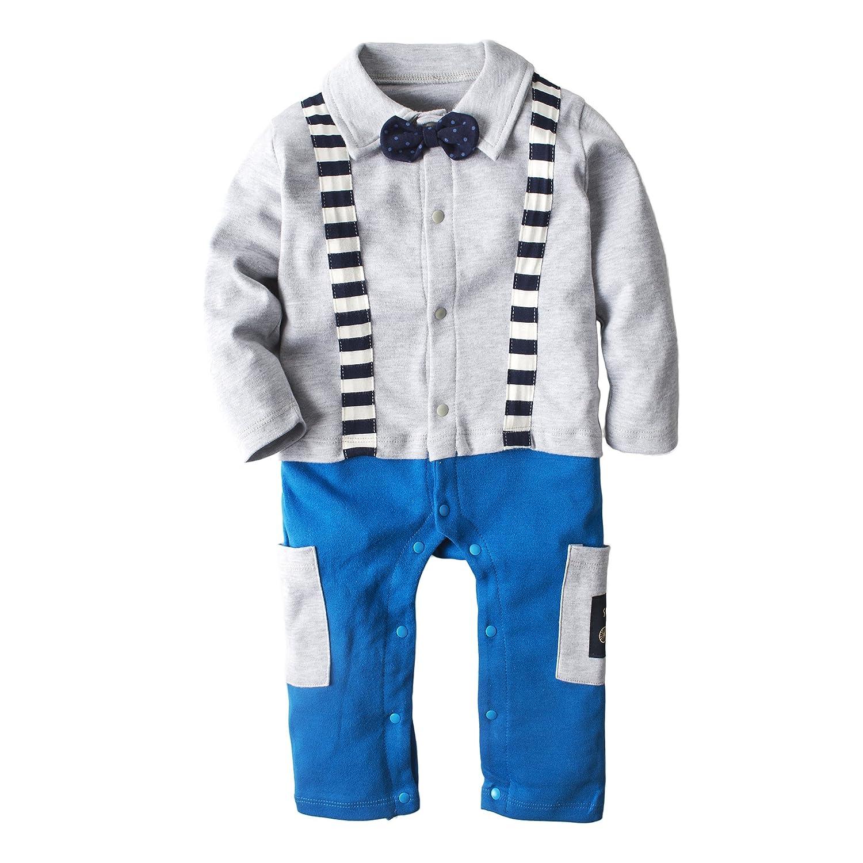 5729d9c2d989 Amazon.com  YIJIUJIU Baby Boy s Long Sleeve Romper Jumpsuit ...