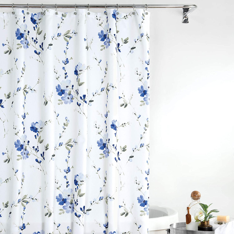 Croscill Charlotte Bath Shower Curtain 54x78 Blue