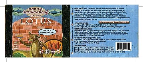 Lotus Grain Free Sardine Loaf Dog Food 12.5oz Can 12 Case