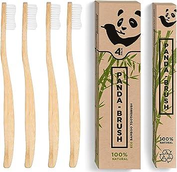 Cepillo de dientes de bambú Panda Brush – Lujoso mango de madera ...