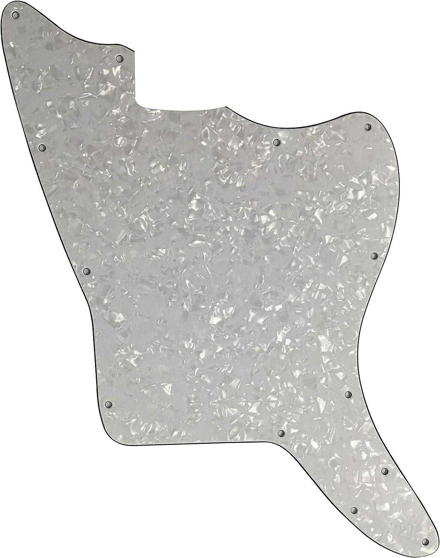 Golpeador de guitarra personalizado para Fender US Jazzmaster estilo en blanco, Perla blanca de 4 capas.