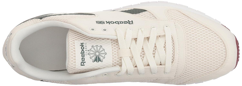 detailed look 3d23b 16f32 Zapatillas Reebok CL s HC en piel para hombre Chalk   Urban Maroon   Chalk