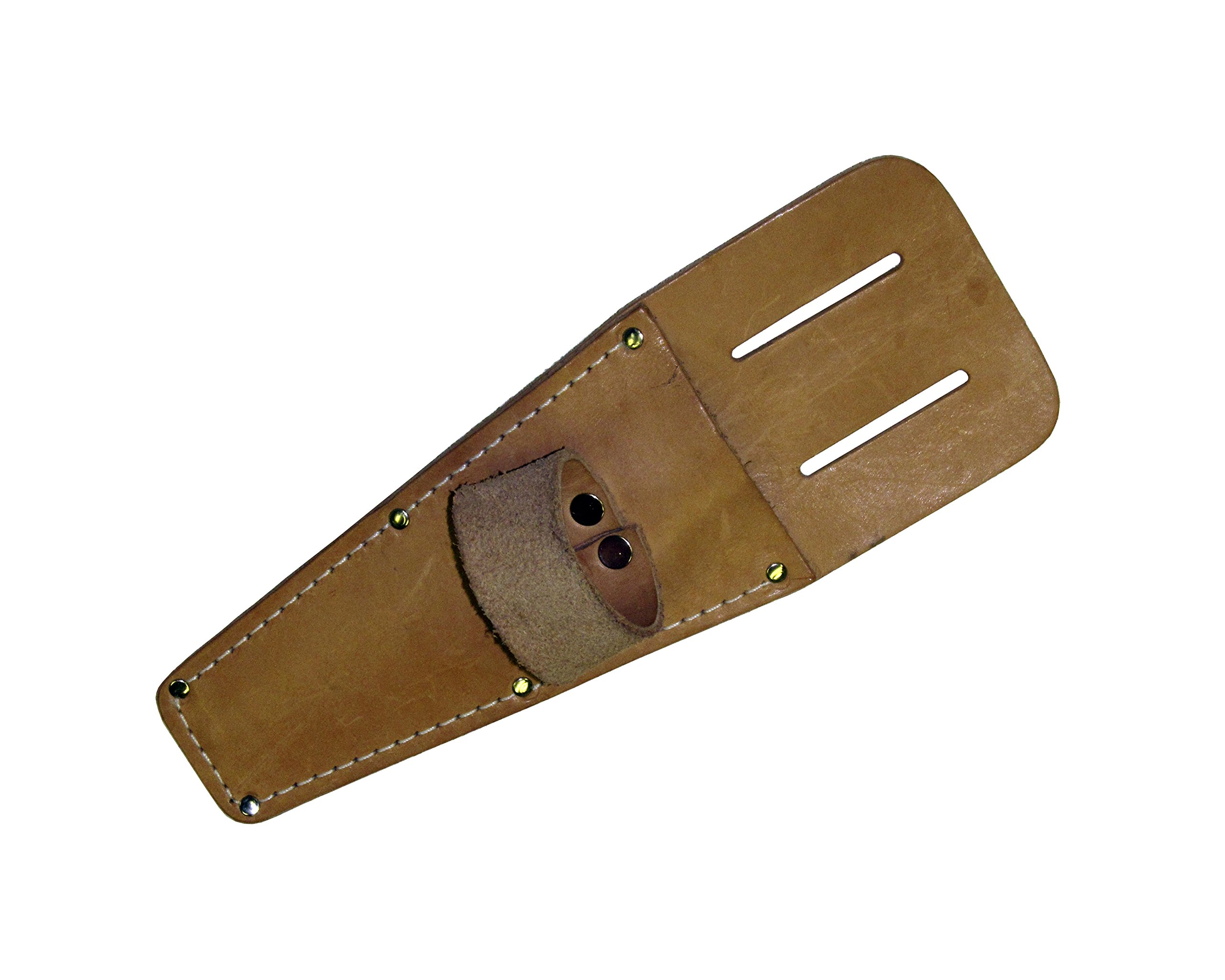"""DM90100 Sheath, 8"""" leather, with roller loop for Seam Roller and Roofing Shears"""