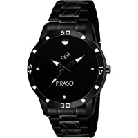 PIRASO Times Movado Black Watch for Men's & Boy's