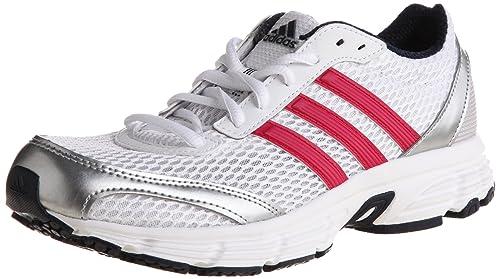 online store 55cf5 38a97 adidas Vanquish 6 w - Zapatillas de Running de Tela Mujer, Blanco (Blanc,  Rose et Argent), 42 EU  Amazon.es  Zapatos y complementos
