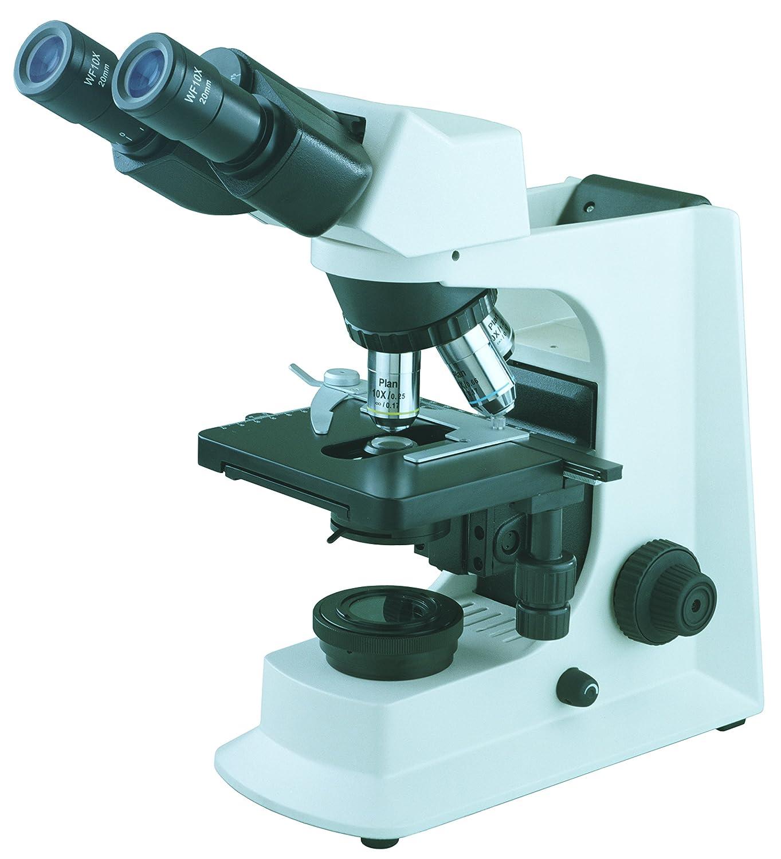 BestScope BS 2036A Siedentopf Binocular Compound Microscope WF10x Eyepieces 40x 1000x Magnification Brightfield Halogen Illumination Abbe Condenser Iris Diaphragm Mechanical Stage 110V