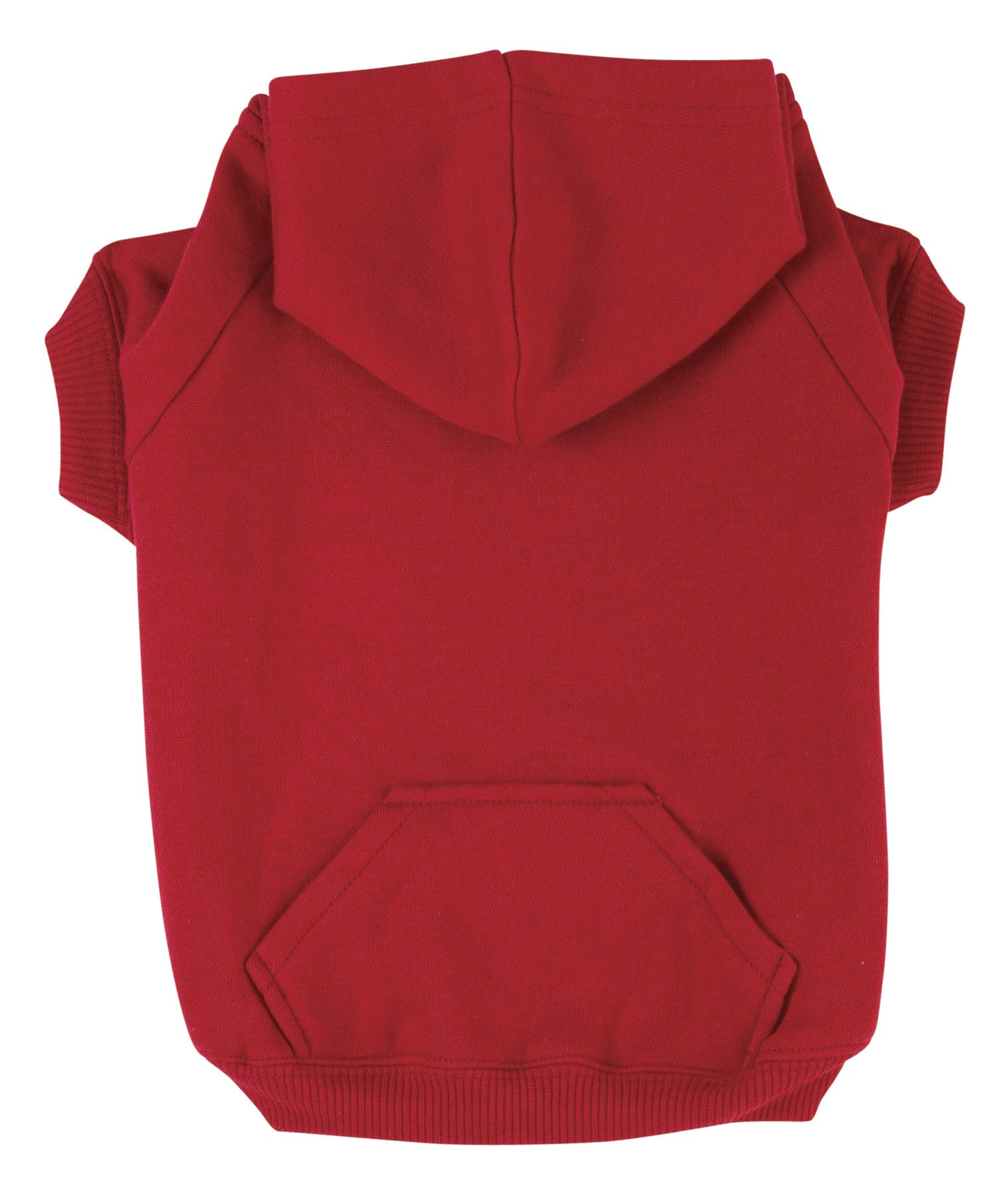 Zack & Zoey Basic Hoodie for Dogs, 16'' Medium, Tomato Red
