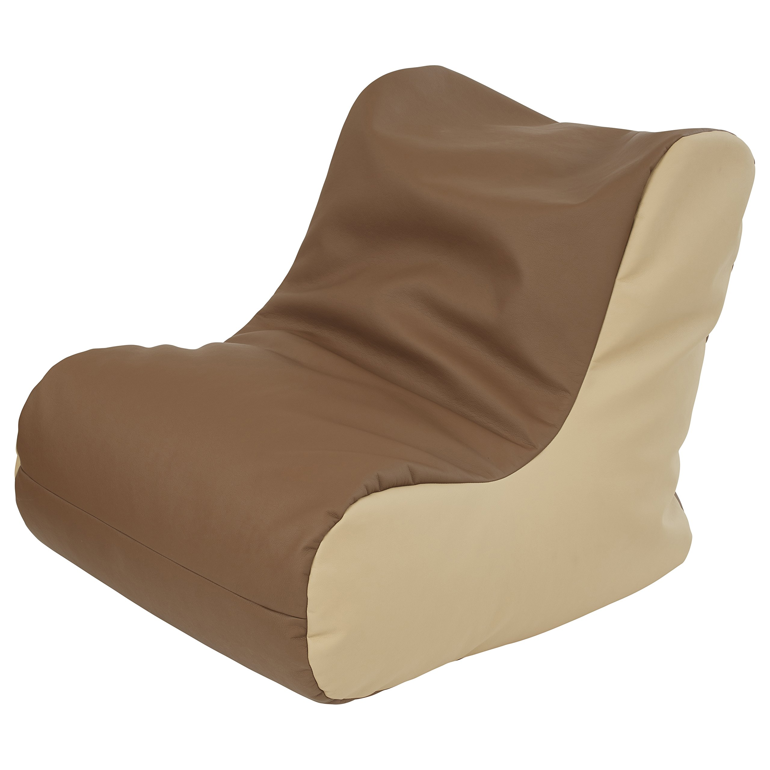 ECR4Kids SoftZone Youth Bean Bag Soft Seat, Chocolate and Sand by ECR4Kids