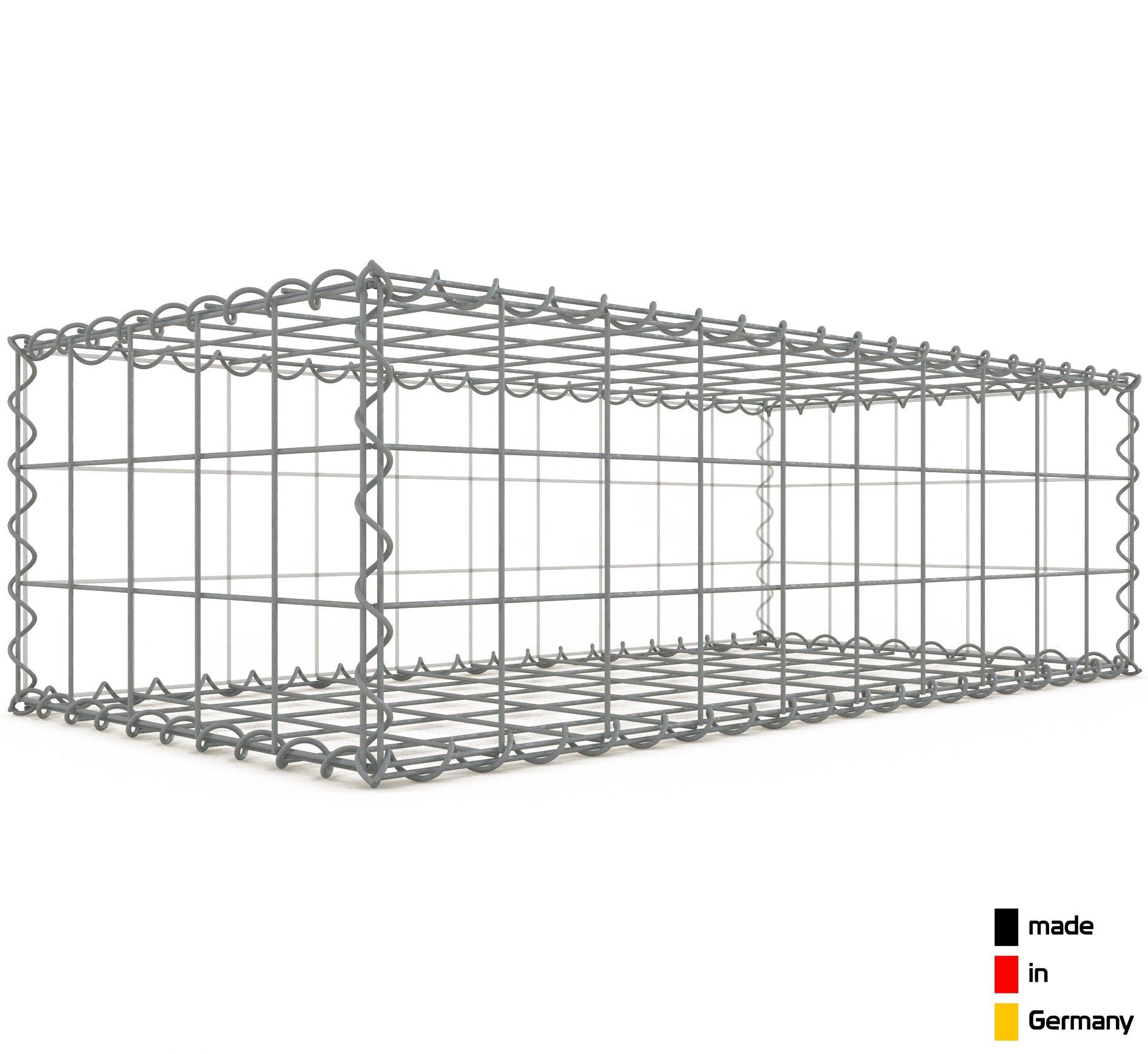 Gabione//Stone Basket 100 x 50 x 30 cm mesh size 10 x 10 cm Gabion