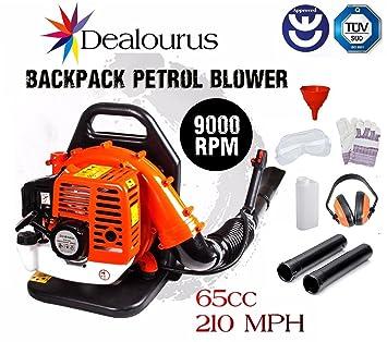 Dealourus 2018 65cc Petrol Backpack Leaf Blower Extremely Powerful