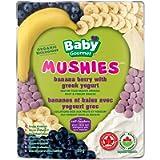 Baby Gourmet Organic Mushies Fruit Snack - Banana Berry With Greek Yogurt - No Added Sugar or Salt, Non GMO, Gluten Free…
