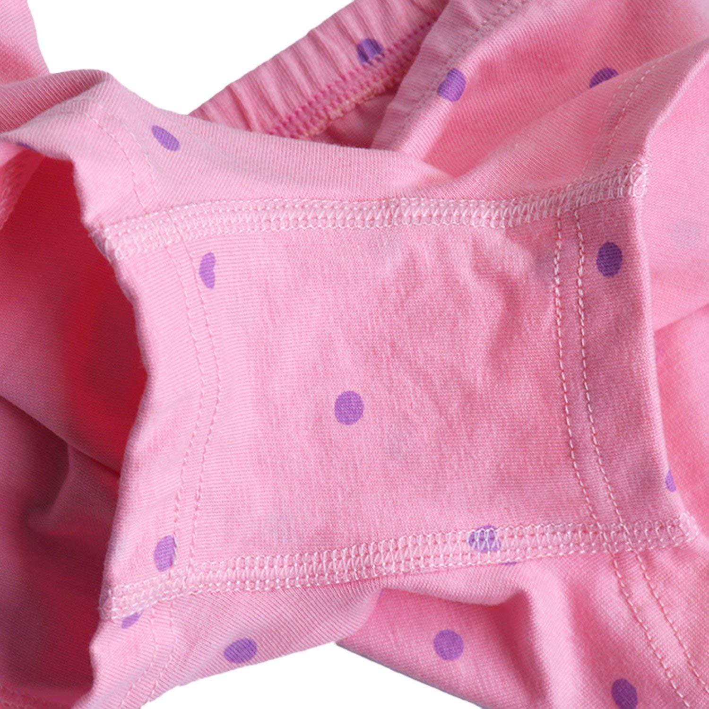 YASSON 4Pcs Kleinkinder Unterw/äsche Set Baby M/ädchen Unterhose Bequem Weich Mit S/ü/ß Cartoon Aufdruck Kleine Schleife 2-12 Jahre