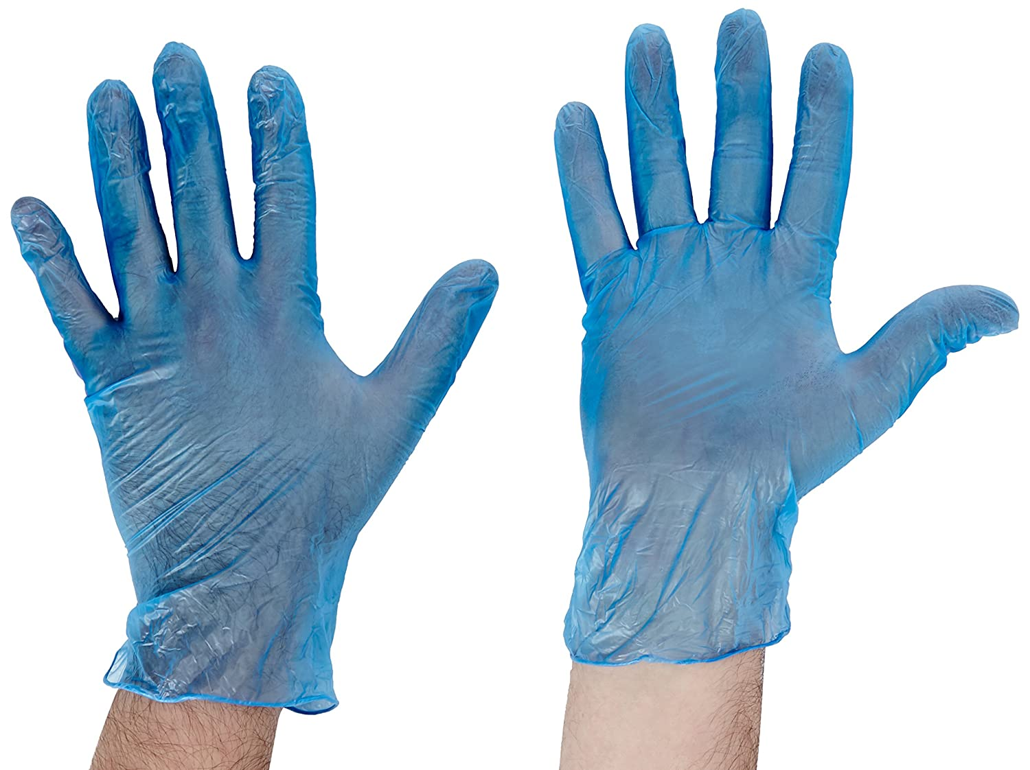 Pack of 100 GD11 Shield Powdered Blue Large Vinyl Gloves