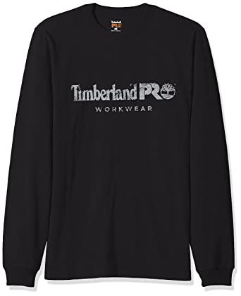 6851ffe86a83 Timberland PRO Men's Cotton Core Long-Sleeve T-Shirt, Jet Black, Small