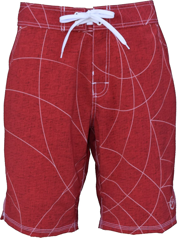 UN92 Coastline Board Shorts Tango Red 36