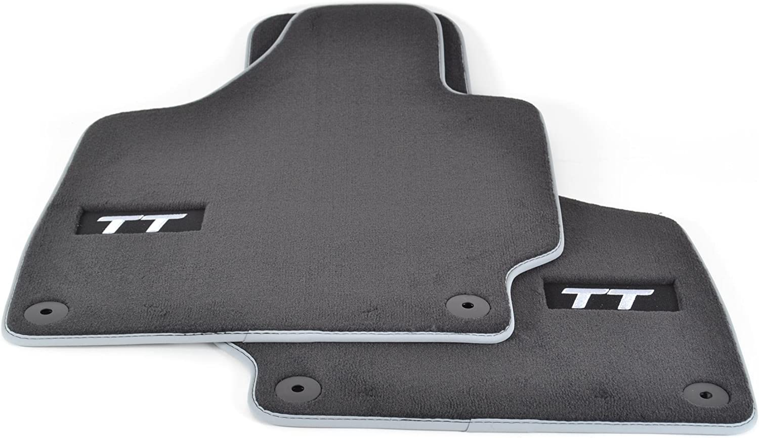 CLASSIC Tailored Black Car Floor Mats 2-Piece AUDI TT Mk2 2006-2014
