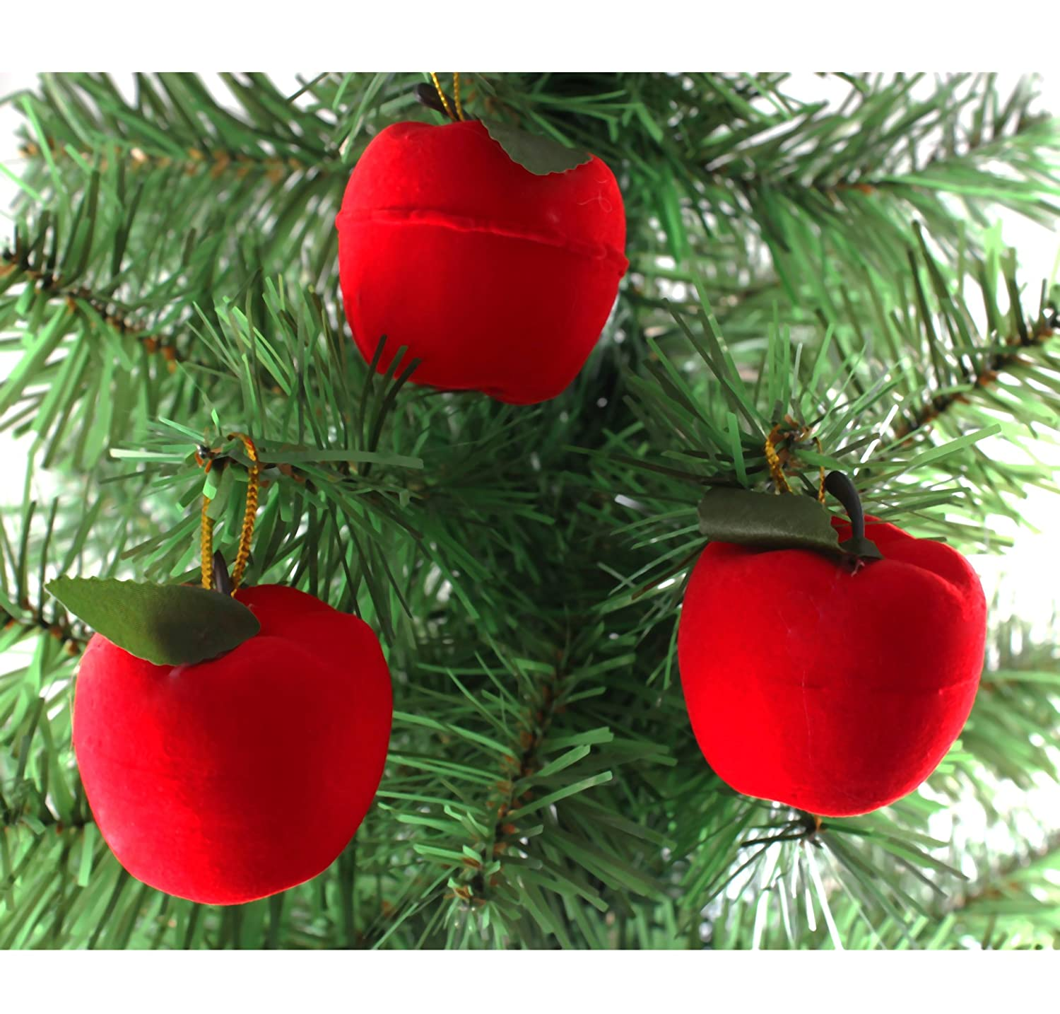 Amazoncom 12 Pcs Christmas Tree Hanging Red Apples Ornaments For