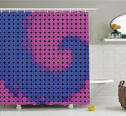 Amazon.com: Spires Decor Shower Curtain by Orvst, Spiral Background ...