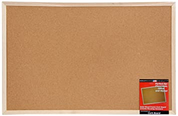 dooley wood framed cork board 225 x 345 inches brown 24360co