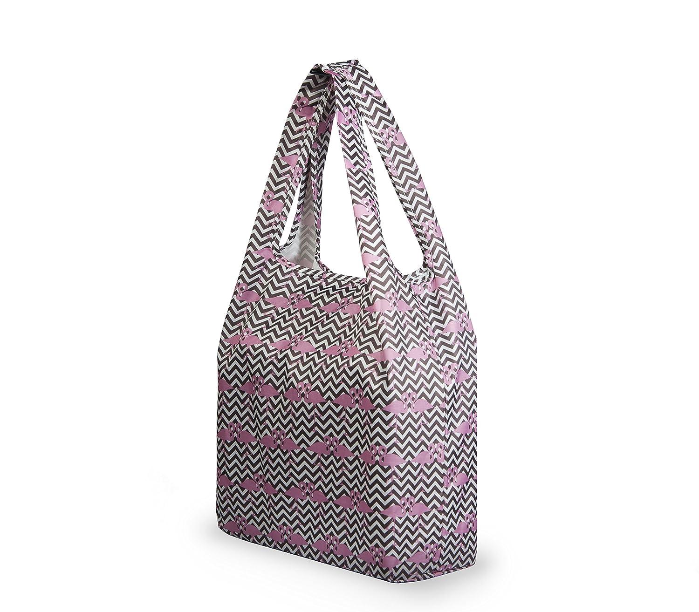 Re-uz Lifestyle bolsa plegable reutilizable compra bolsa de la compra/ /Rosa colibr/í