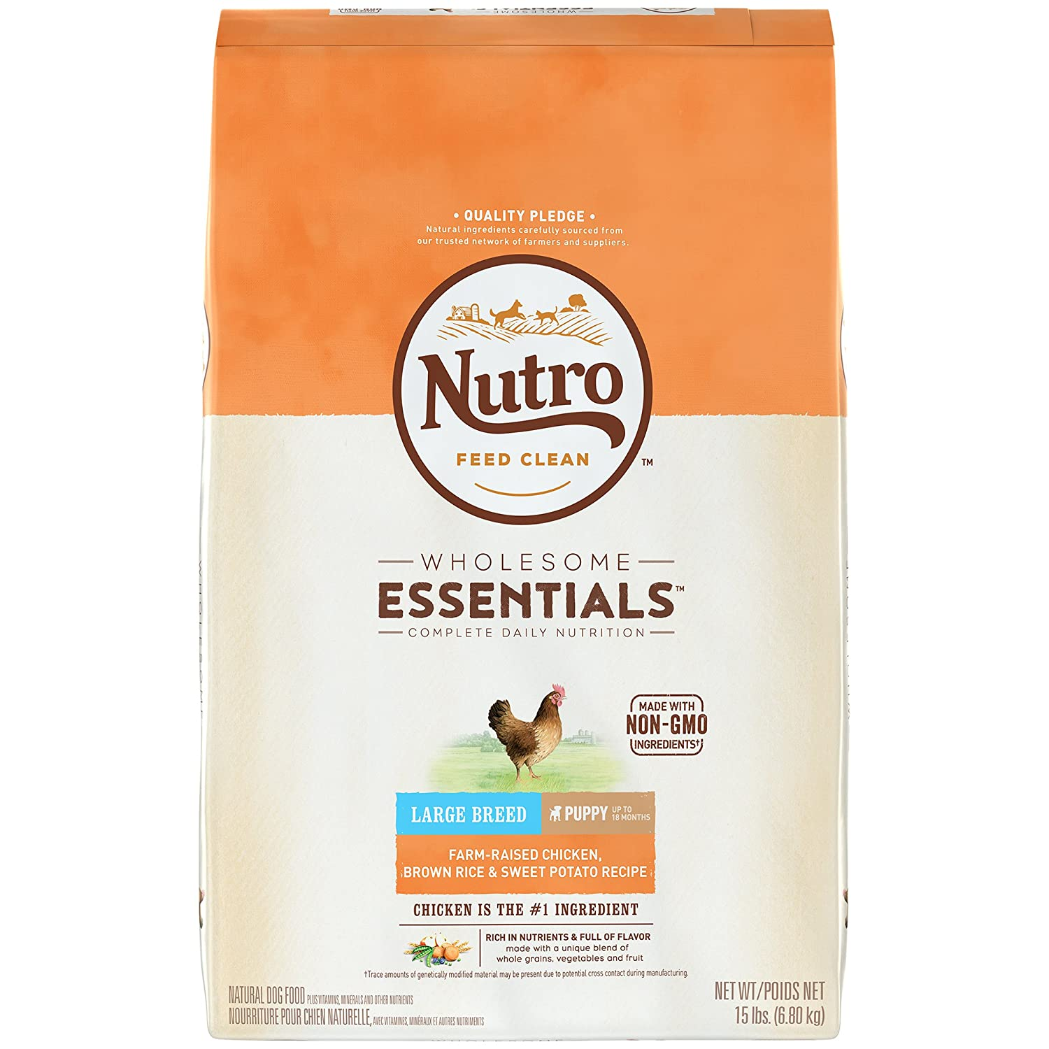 Nutro Large Breed Puppy Chicken, Whole Brown Rice and Oatmeal Dog ...