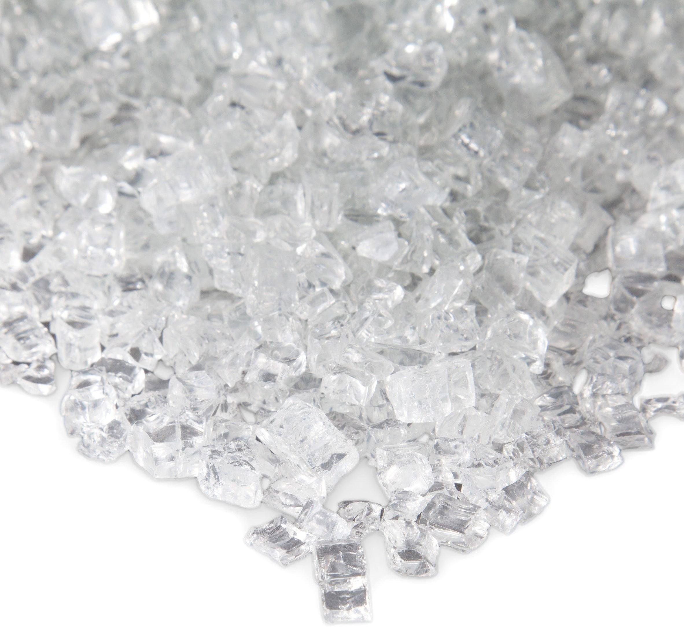 Real Flame 10001-ICG Ice Clear Fire Glass Filler, Small, by Real Flame