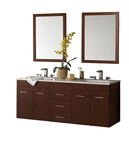 ronbow bella 62 inch double bathroom vanity set in dark cherry rh amazon com
