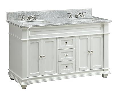 Amazoncom Inch Italian Carrara Marble Top Kendall Bathroom Sink - Kendall bathroom vanities