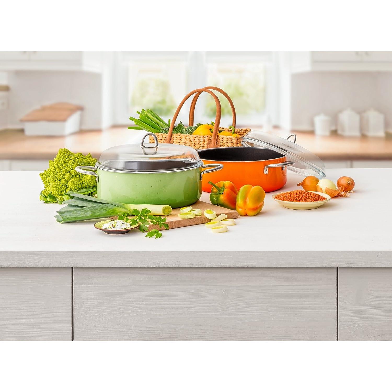 6L Passion Green Reborde Fabricado en Alemania Tapa de Cristal Silargan Función cerámica inducción Lavavajillas.: Amazon.es: Hogar