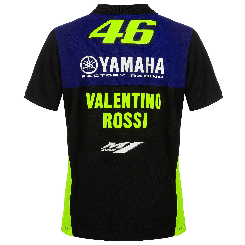 2019 Valentino Rossi VR46 Mens Polo Shirt Official Yamaha Factory Racing MotoGP
