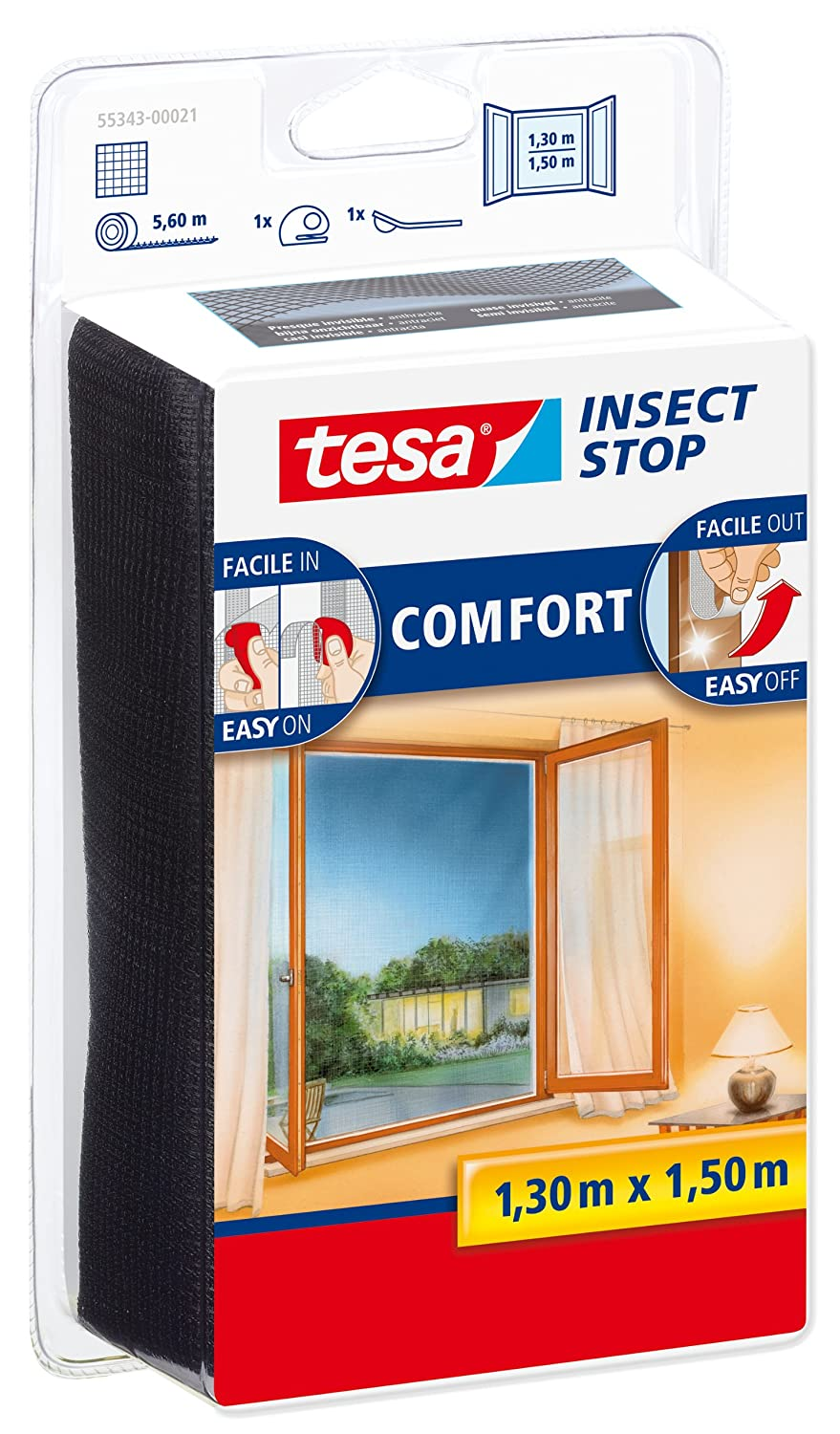 tesa Insect Stop Comfort 55915-00021-00 Mosquito Net for Windows