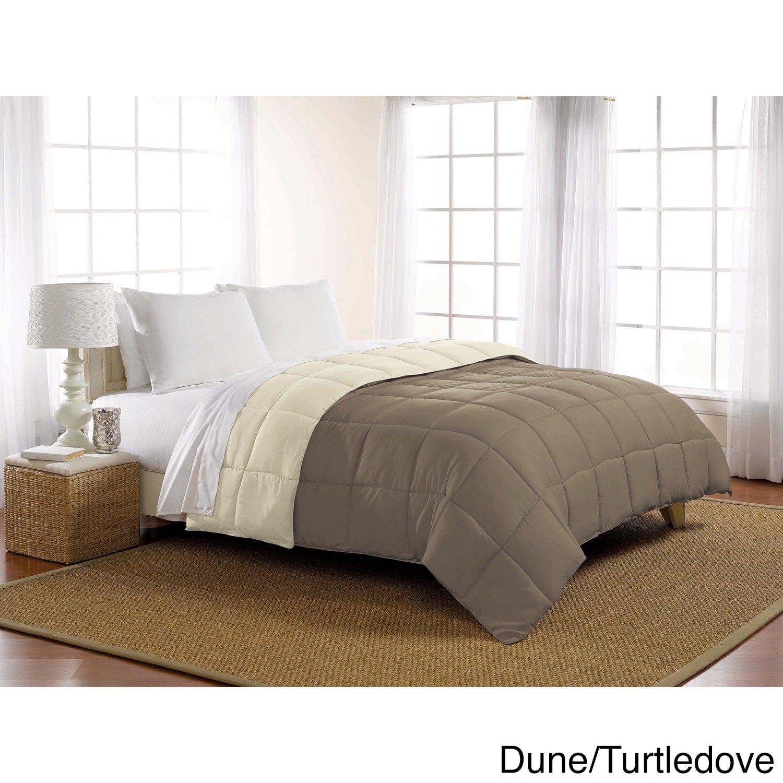 Twin Reversible Luxlen Microfiber Down Alternative Comforter Olive//Reseda mf-reversible-olive-twin