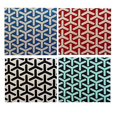 Unique Boutique - Mouchoir - Femme multicolore Rouge/bleu Taille Unique