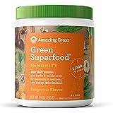Amazing Grass Green Superfood Immunity: Super Greens Powder with Vitamin C, Cordyceps & Reishi Mushrooms, Tangerine, 30…