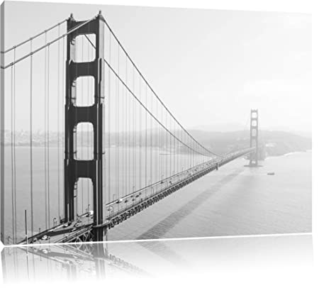 Golden Gate Bridge, San Francisco, Black and White, painting on ...