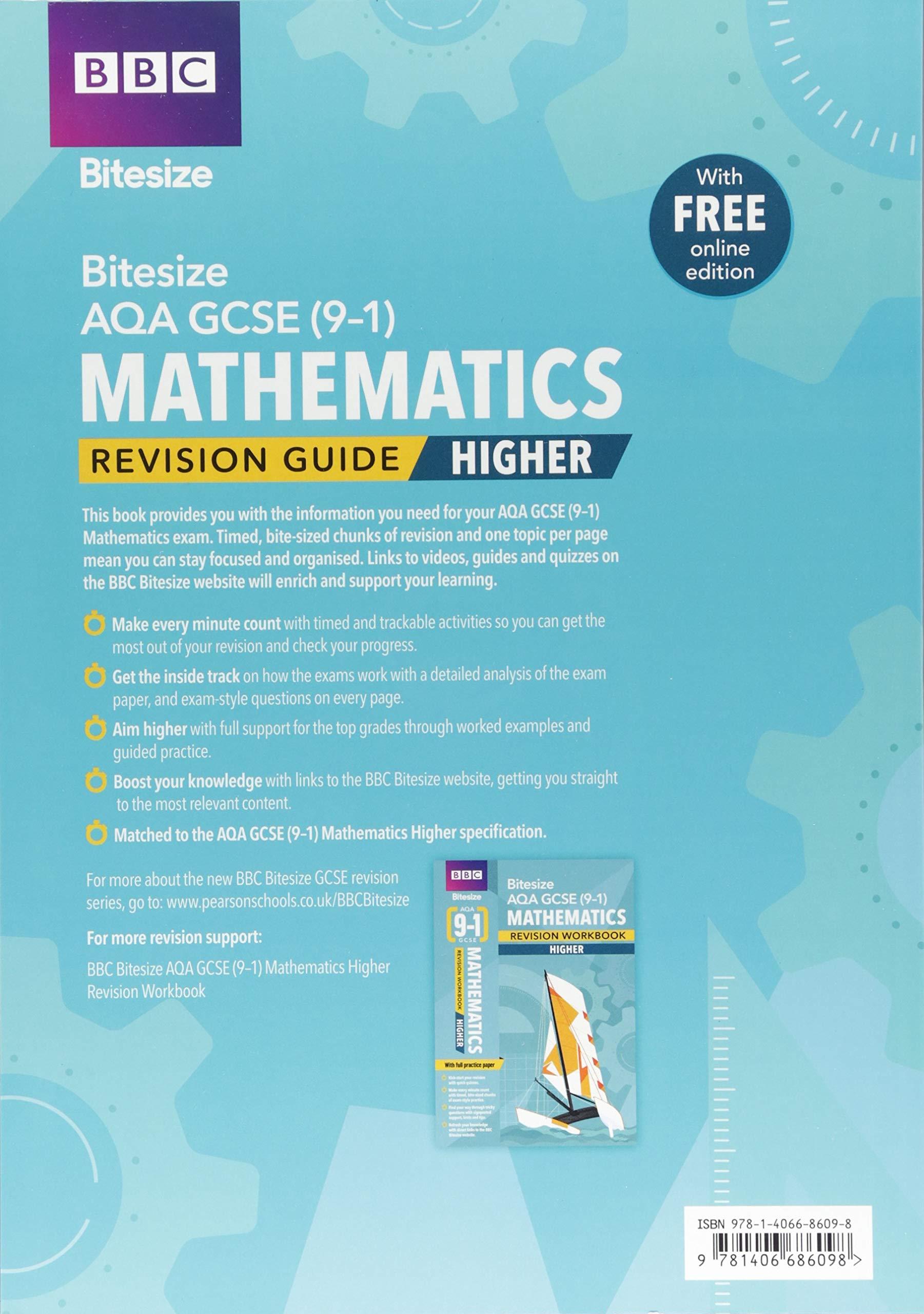 Bbc Bitesize Aqa Gcse 9 1 Maths Higher Revision Guide Bbc Bitesize Gcse 2017 Amazon Co Uk 9781406686098 Books
