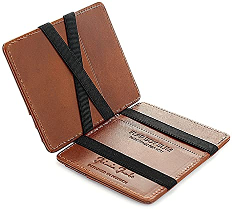 JAIMIE JACOBS ® Cartera Mágica Flap Boy Slim, el Original, Magic Wallet con Bloqueo