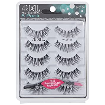 9c67ef2823f Ardell Lashes Wispies Multipack (Pack of 4) with Applicator: Amazon.co.uk:  Beauty