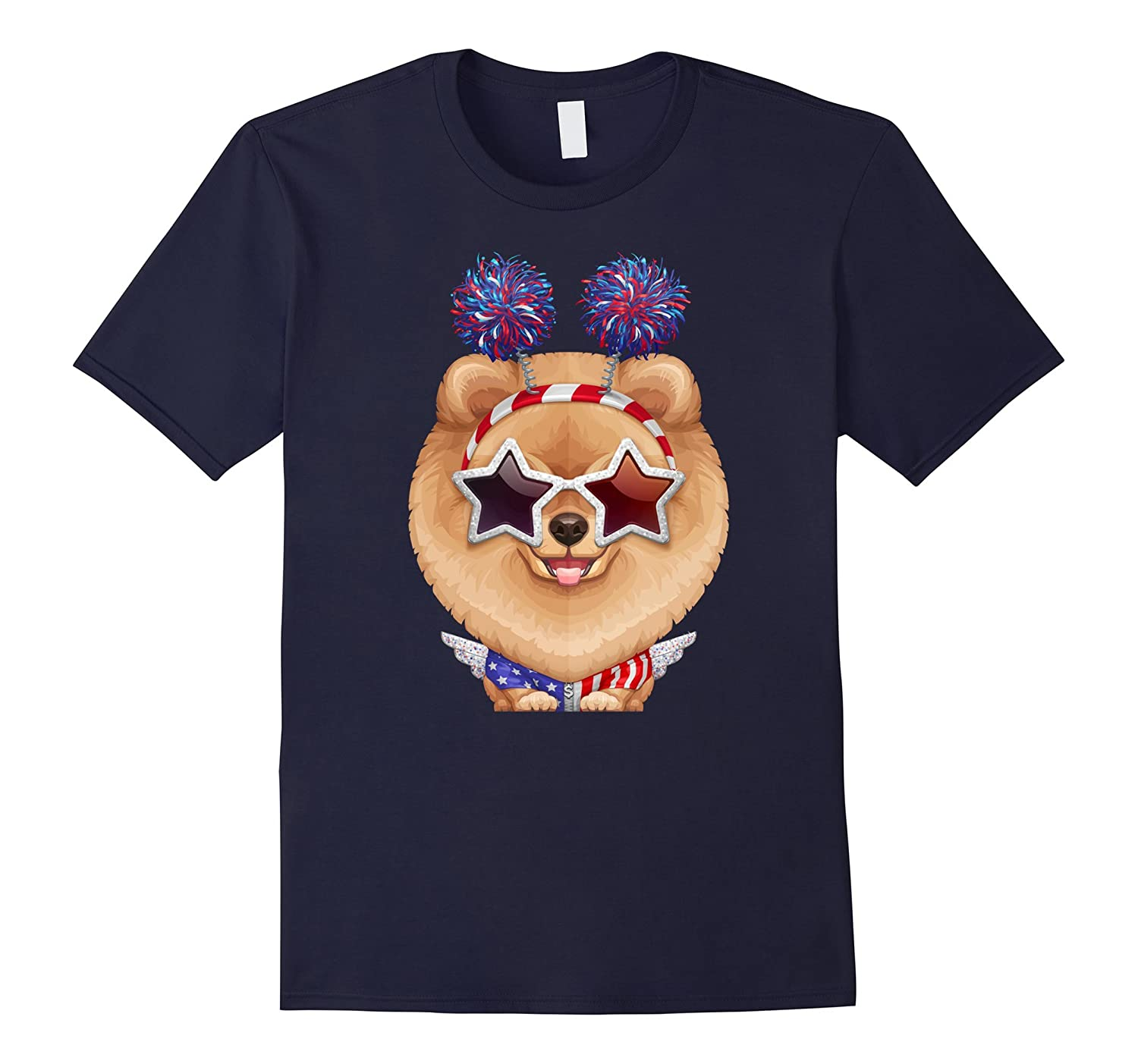 Pomeranian Independence Day T-shirt-TH