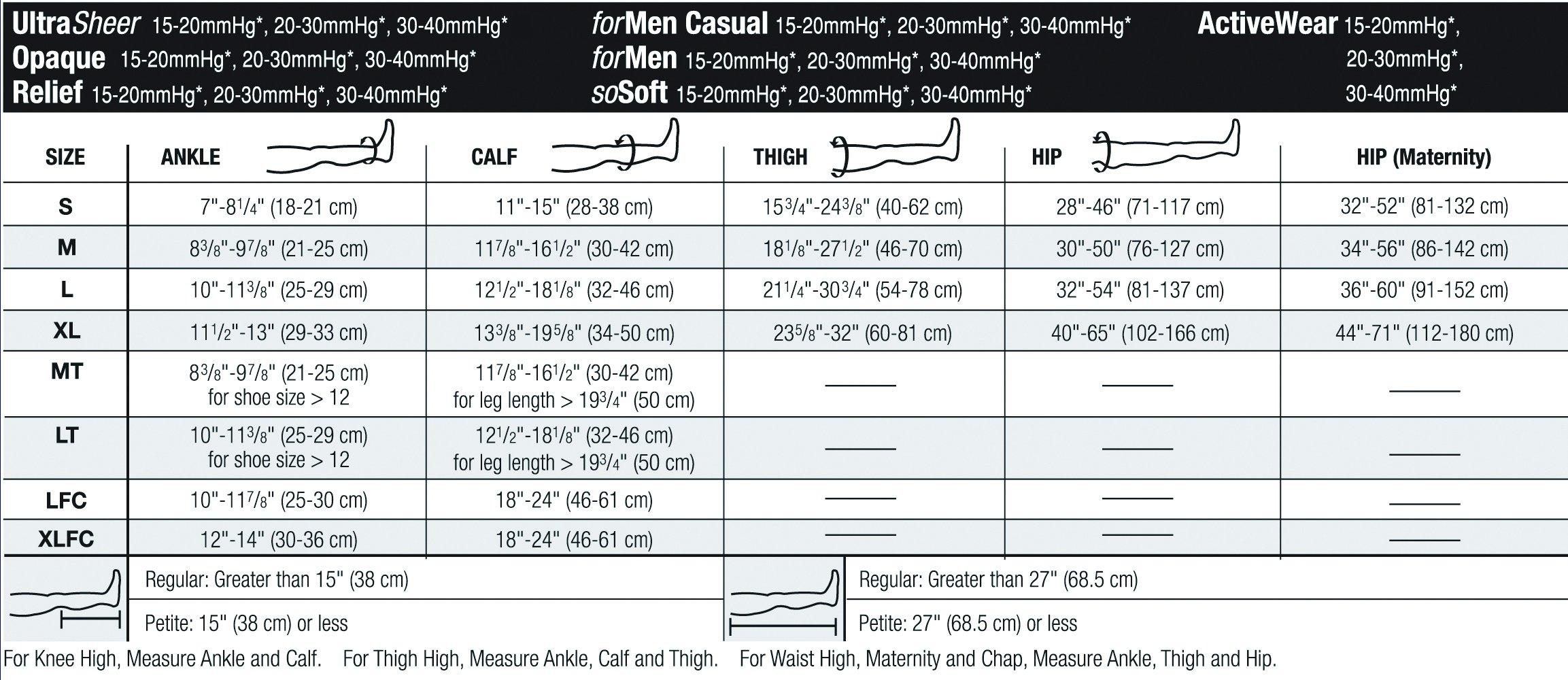 JOBST Activewear Compression Socks, 15-20 mmHg, Knee High, Medium, White by JOBST