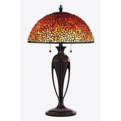 Quoizel tf135tbc traditional 3 light pomez table lamp small burnt cinnamon