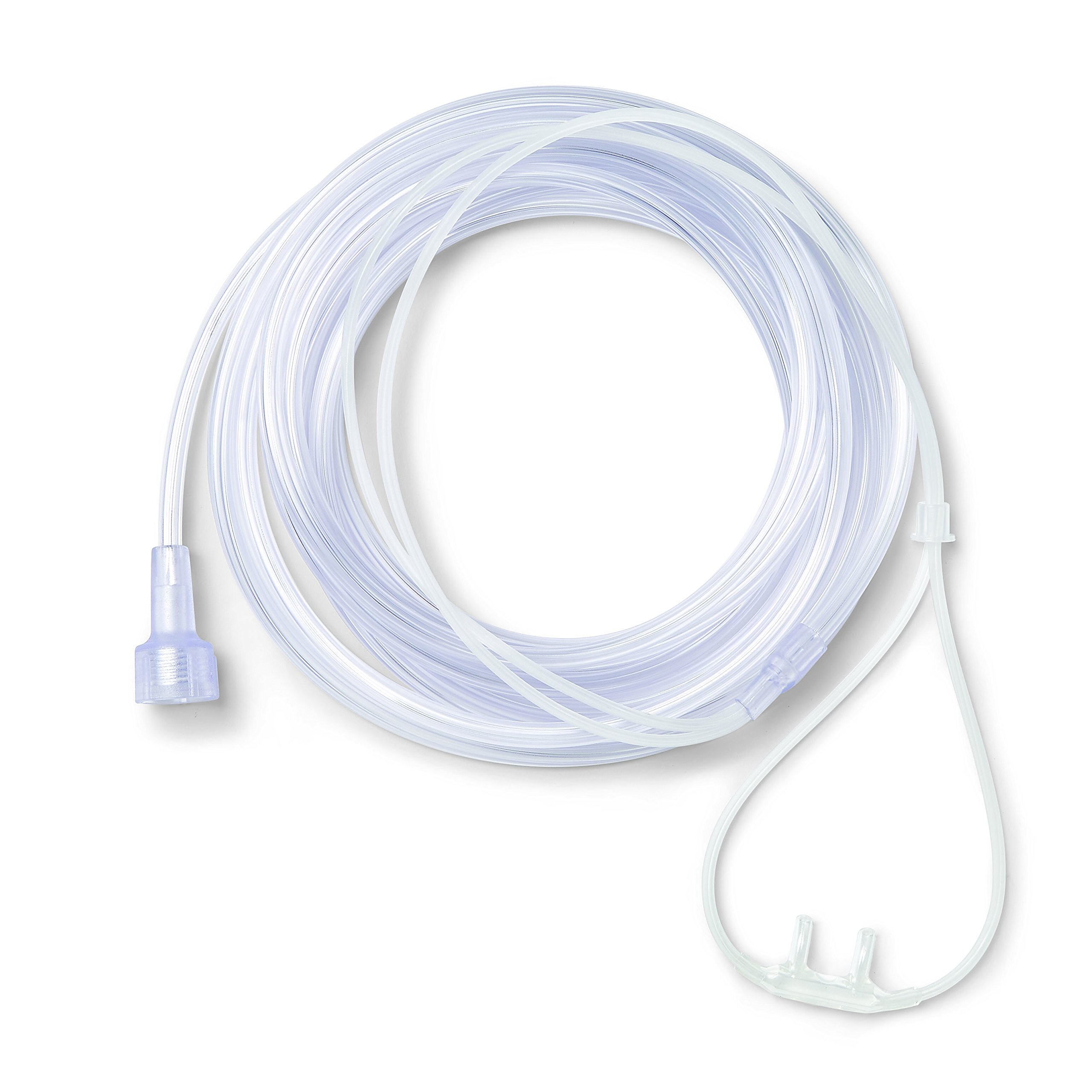 Medline SuperSoft Nasal Oxygen Cannula, Universal Connector, 14-Foot Tubing, Adult Size, Pack of 50