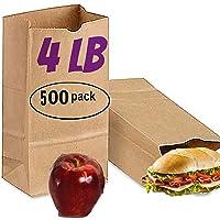 500 brown paper lunch bags 4 lb brown paper sacks bags lunch 4lb kraft brown paper bags sandwich brown paper bags 4…
