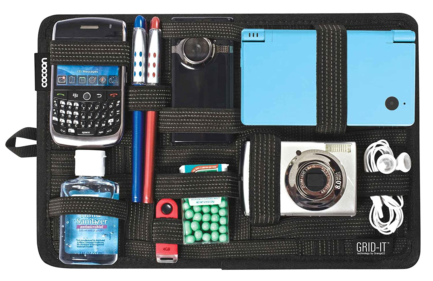 Purse organizer grid
