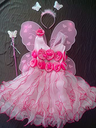 61c50bc43 Buy Baby Girl Birthday Party Costume Dress Set Pink with Butterfly ...