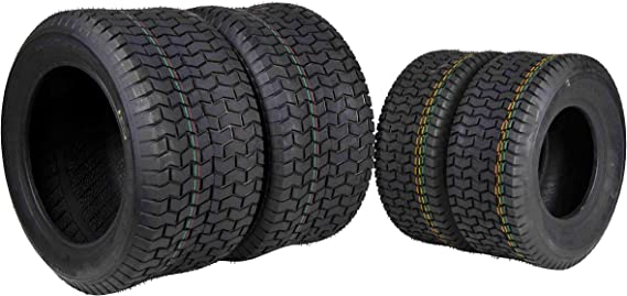 MASSFX 4 New Lawn Mower Tires 16x6.5-8 22x9.5-12 4 PLY Four Pack